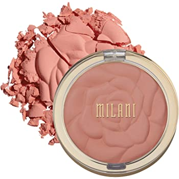 Milani Rose Powder Blush - Tea Rose (0.6 Ounce) Cruelty-Free Blush - Shape, Contour & Highlight Face with Matte or Shimmery Color