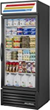 True GDM-26-HC-LD Single Swing Glass Door Merchandiser Refrigerator with Hydrocarbon Refrigerant and LED Lighting, Holds 33 Degree F to 38 Degree F, 78.625