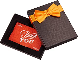 Amazon.com $200 Gift Card in a Black Gift Box (Thank You Icons Card Design)