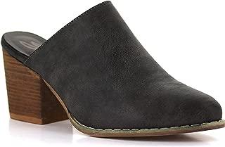 Seven7 Women's Dandy Western Mules Pointed Toe Heeled Slip-On Mule