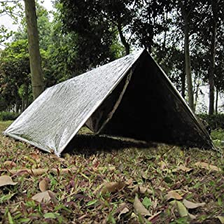 SMARTH 140 x 210cm Outdoor Camping Equipment Emergency Cold-Proof Waterproof Blanket Tent Survival Rescue Camping Shelter