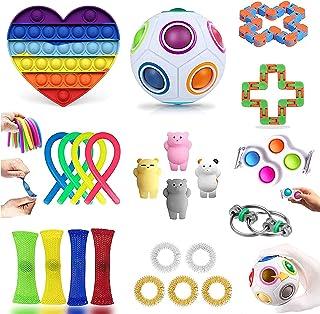 Fidget Toys,Fidget Toys Pack Pas Cher, Jouet Anti Stress, Jouet Enfant de Anti Stress et Anti-anxiété, Simple Fidget Toys ...