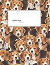 Beagle Puppy Composition book: Baby Beagle Notebook: Beagle Dog Puppy, 8.5