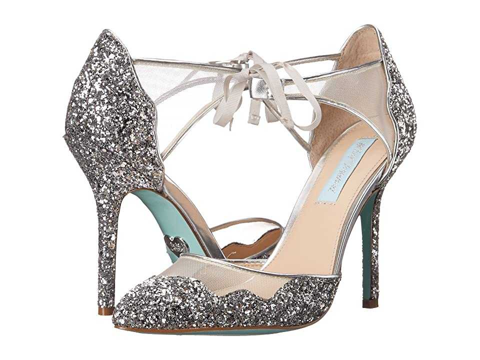 Blue by Betsey Johnson Stela (Silver Glitter) High Heels