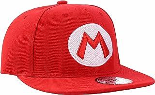 Super Mario Red Snapback Baseball Cap by True heads, Adjustable, Red