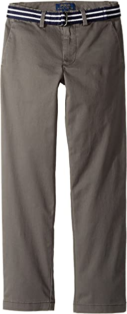 Polo Ralph Lauren Kids - Belted Stretch Cotton Chino Pants (Big Kids)