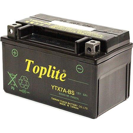 Toplite 台湾ユアサ YTX7A-BS バイク用バッテリー 耐震 シールド型 AGM 液入り充電済み 台湾YUASA 第2ブランド