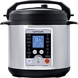 Nutricook Smart Pot Pro+ by Nutribullet 1000 Watts - 10 in 1 Instant Programmable Electric Pressure Cooker, 6 Liters, 15 S...