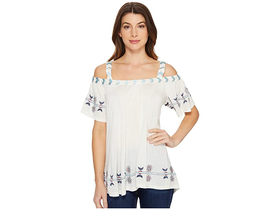 Scully Gail Embroidered Tunic (Ivory) Women