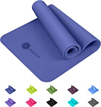 Aisoco Stuoia di Yoga Premium TPE,Antiscivolo,Ecologico,Innocuo per la Pelle,Tappetino per Il Pilates, Tappetino Sportivo e Fitness Yoga Mat - Eco Friendly, Antiscivolo - Borsa da Yoga