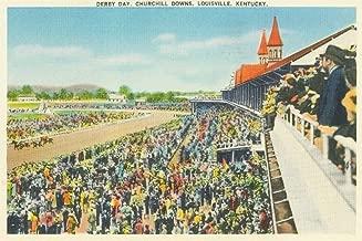 Louisville, Kentucky - Churchill Downs View on Derby Day (9x12 Art Print, Wall Decor Travel Poster)