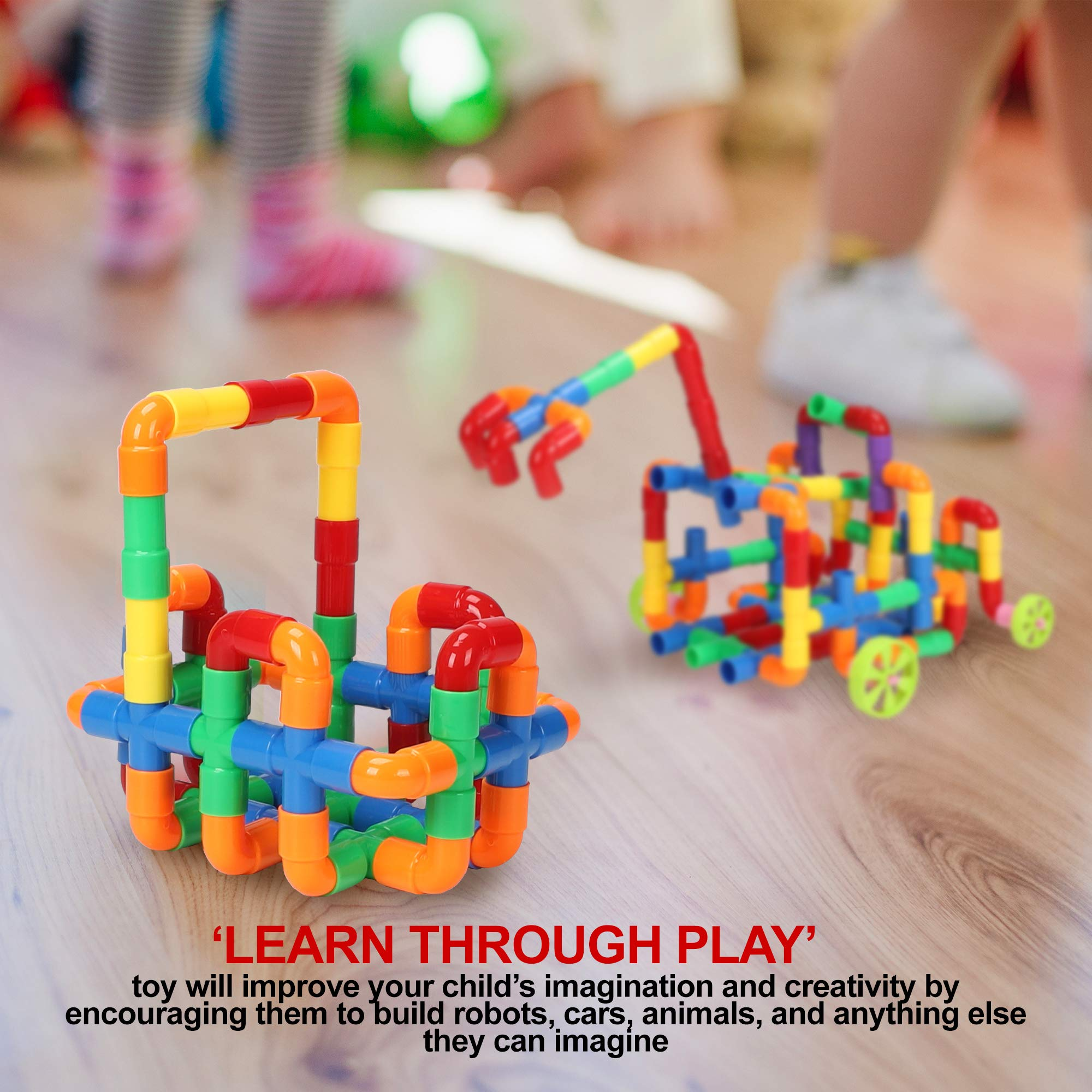 STEM Building Blocks Toy for Kids, Educational Toddlers Toddler Toy Kit, Constructions Toys for 3 4 5 6 7 8 Years Age Boys and Girls – Creativity Kids Toys