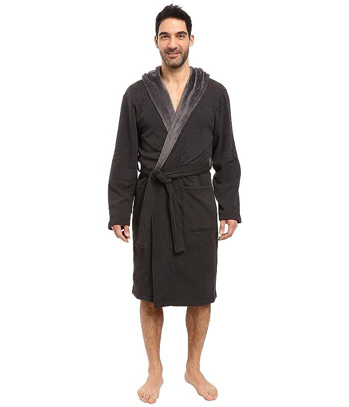 UGG  Brunswick Robe (Black Bear Heather) Mens Robe