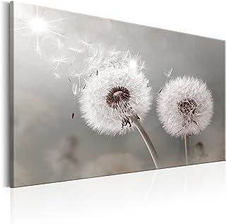 Schöne Pusteblume Bunstift Effekt Leinwandbild Wanddeko Kunstdruck