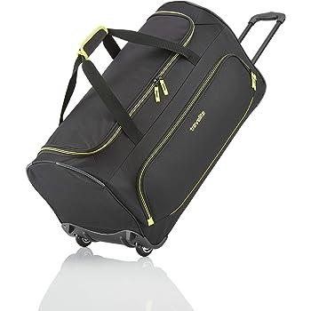 Travelite 2-Rad Trolley Reisetasche Größe L, Gepäck Serie BASICS FRESH: Weichgepäck Reisetasche mit Rollen im sportlichen Design, 096277-01, 71 cm, 89 Liter, schwarz