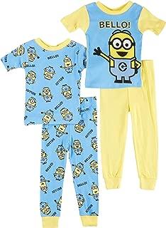 Boys 2 Minion Bello! 4 Piece Toddler Cotton Pajamas
