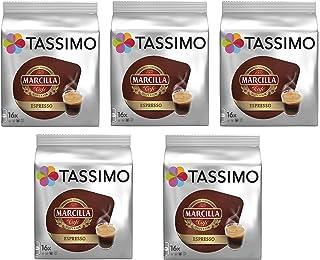 comprar comparacion TASSIMO Marcilla Café Espresso - 5 paquetes de 16 cápsulas: Total 80 unidades