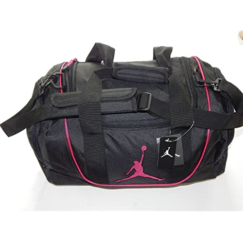 546a9a0b9ea8bd Nike Air Jordan Duffel Gym Bag Basketball Tote Black Pink Tote Travel Duffle  Bag