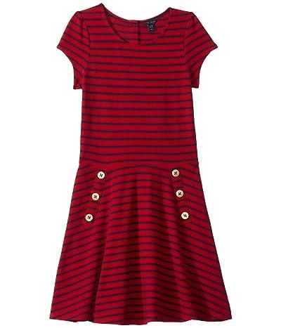 Tommy Hilfiger Kids Yarn-Dye Stripe Dress (Big Kids) (Regal Red) Girl