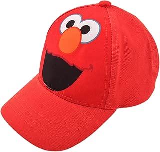 Sesame Street Toddler Boys' Elmo Cotton Baseball Cap, Light Red, Age 2-4