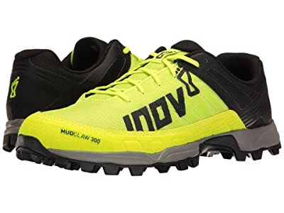inov-8 Mudclaw 300 (Neon Yellow/Black/Grey) Athletic Shoes