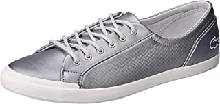 Lacoste Lancelle Sneaker 119 2 Women's Fashion Shoes, SLV/Off WHT
