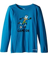 Life is Good Kids - Elemental Game On Soccer Long Sleeve Tee (Little Kids/Big Kids)