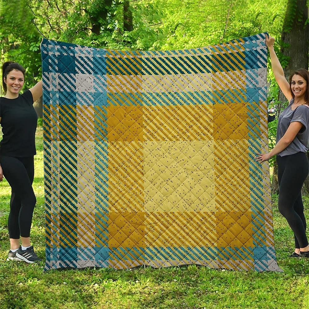 Square Grid Camping wholesale Quilt Choice Pattern Gifts Quilted Blankets Sea All