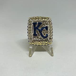 Salvador Perez #13 Kansas City Royals High Quality Replica 2015 World Series Ring Size 8.5-Gold Colored
