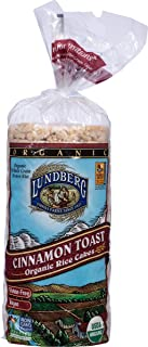 Lundberg Family Farms Organic Cinnamon Toast Rice Cake, 9.5-Ounce Units (Pack of 12)