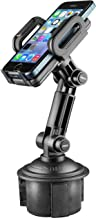 Mediabridge Smartphone Cradle w/Extended Cup Holder Mount - for iPhone X/8/7/7+, Samsung S6/Note - Fits 2