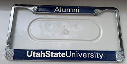 Automotive Advertising Associates Utah State University Alumni Chrome Metal License Plate Frames
