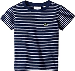 Short Sleeve Striped Tee Shirt (Toddler/Little Kids/Big Kids)
