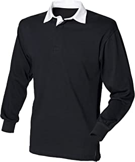Long Sleeve Classic Rugby Shirt COLOUR Black/White SIZE 4XL