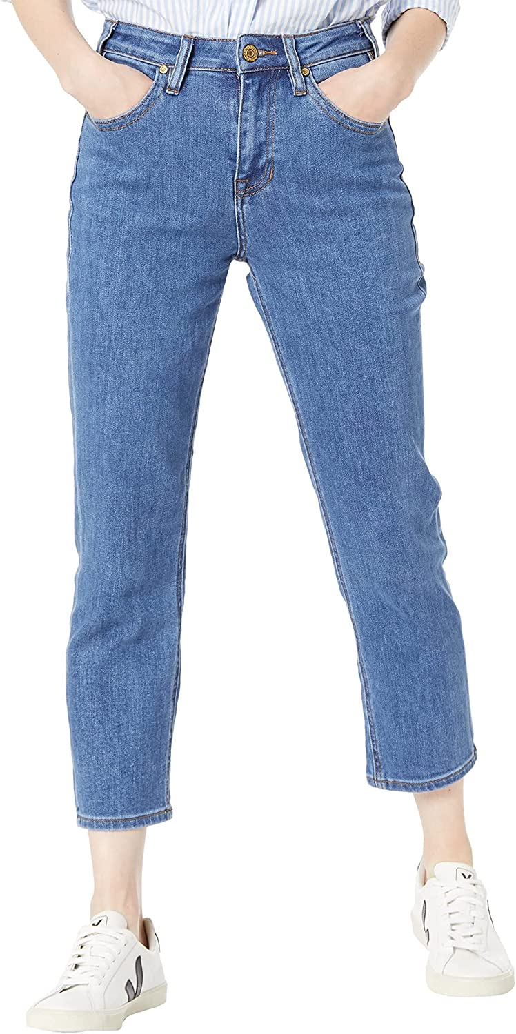 Rock Popular standard Tulsa Mall and Roll Cowgirl High-Rise WSC9798 Wash in Medium Cropped