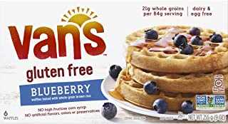 Van's Simply Delicious Gluten-Free Waffles, Blueberry, 6 Count (Frozen)