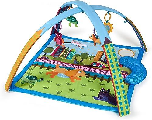 Oops 14001.10 Baby-Turn- und Spielmatte mit Flugzeug, Walddesign