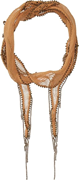 Chan Luu - Beaded Diamond Short Skinny Scarf