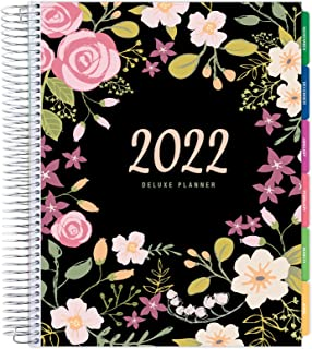"""$34 » Deluxe Planner: 14 Months (Nov 2021 Through Dec 2022) 8.5""""x11"""" Includes Page Tabs, Bookmark, Planning Stickers, Pocket Fol..."""