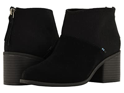 TOMS Lacy (Black Suede/Felt Mix) Women
