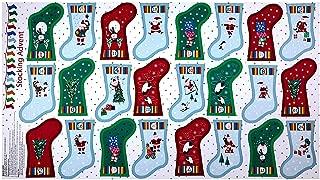 Andover Makower Jolly Santa Stocking Advent 24