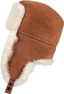 Zavelio Unisex Shearling Sheepskin Trooper Russian Ushanka Winter Fur Hat