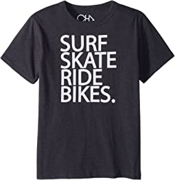 Chaser Kids - Vintage Jersey Surf Skate Bike Tee (Little Kids/Big Kids)