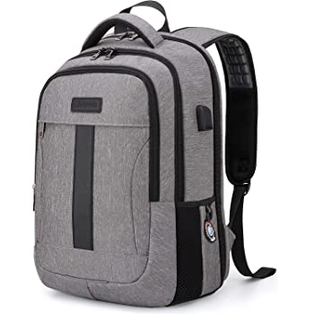 Business 15.6Inch Laptop Backpack, Anti Theft School Bookbag for Girls/Boys Grey