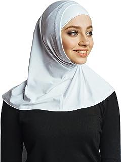 لا يوجد دبابيس ، وشاح رأس قطني ، حجاب فوري من قطعتين ، جاهزة لارتداء إكسسوارات الإسلامية للنساء