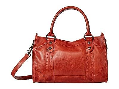 Frye Melissa Satchel (Burnt Orange) Satchel Handbags