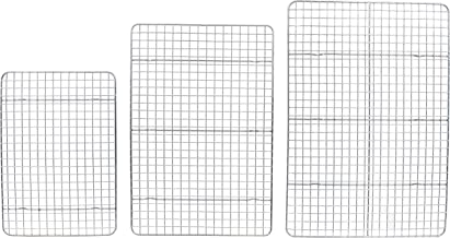 Checkered Chef Cooling Rack Multi Pack - 3 Stainless Steel Cooling/Baking Racks - Oven and Dishwasher Safe - Pack of 3.