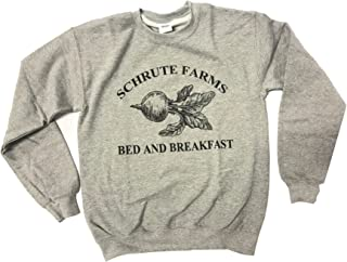 Schrute Farms Bed and Breakfast Heather Grey Men Sweatshirt