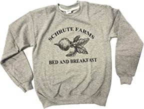 Best iApparel Schrute Farms Bed and Breakfast Heather Grey Men Sweatshirt Review