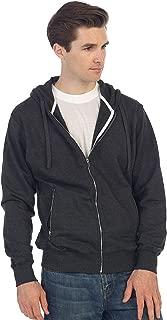 Men's Full Zip Up Hoodie with Metal Zipper Pockets
